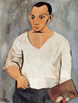 Pablo Picasso : self-portrait with palette