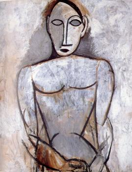 Pablo Picasso : bust of a woman with clasped hands