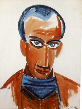 Pablo Picasso : portrait of max jacob