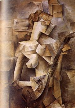 Pablo Picasso : girl with a mandolin