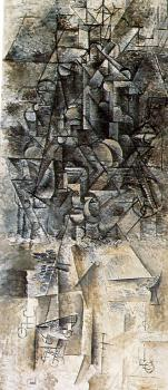 Pablo Picasso : man with a mandolin