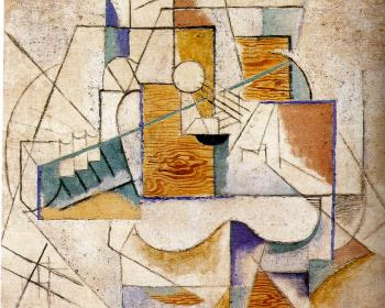 Pablo Picasso : guitar on a table