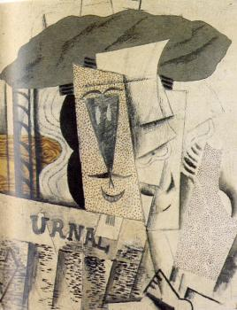 Pablo Picasso : student with a newspaper