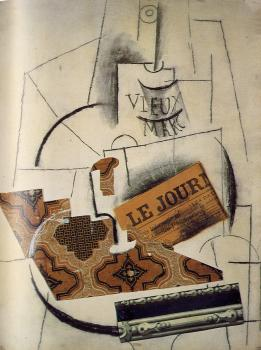 Pablo Picasso : bottle of vieux marc