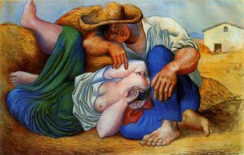 Pablo Picasso : sleeping peasants