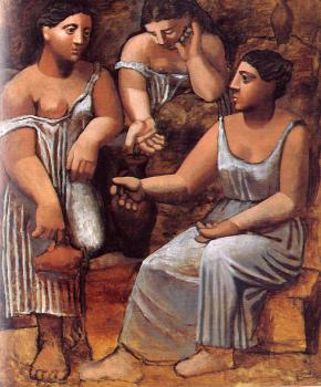 Pablo Picasso : three women at the well II