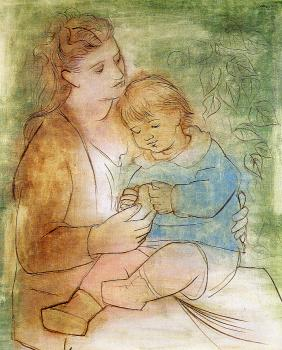 Pablo Picasso : Mother And Child II