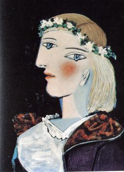 marie-therese with a garland