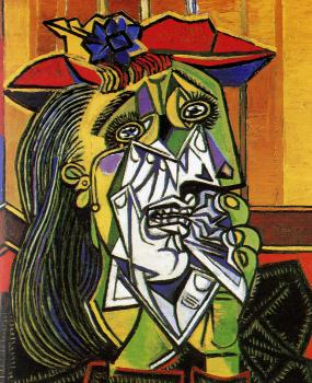 Pablo Picasso : woman in tears