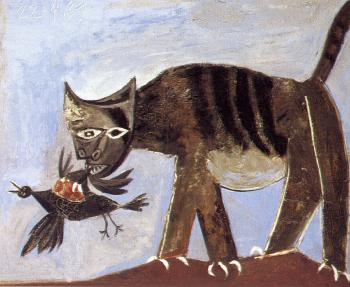 Pablo Picasso : cat catching a bird
