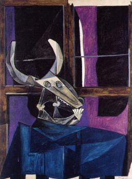 still life with steer's skull