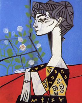 Pablo Picasso : jacqueline with flowers