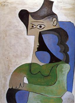Pablo Picasso : seated woman in a hat II