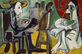 Pablo Picasso : the painter and his model III