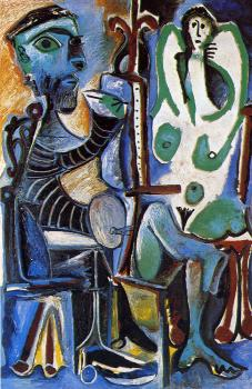 Pablo Picasso : the painter and his model VI