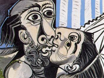 Pablo Picasso : the kiss IV