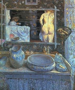 Pierre Bonnard : Mirror on the Wash Stand