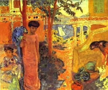 Pierre Bonnard : Woman with a Parrot