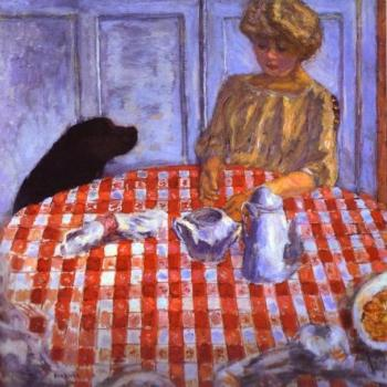 Pierre Bonnard : The Red-Checkered Tablecloth