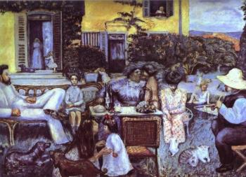 Pierre Bonnard : The Bourgeois Afternoon or The Terrasse Family