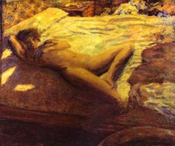 Pierre Bonnard : Woman Reclining on a Bed(The Indolent Woman)