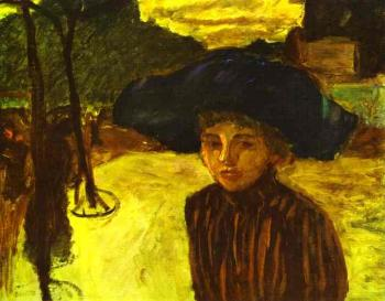 Pierre Bonnard : Woman in a Blue Hat