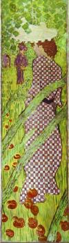 Pierre Bonnard : Woman in a Checked Dress