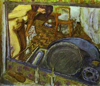Pierre Bonnard : Tub in a Mirror