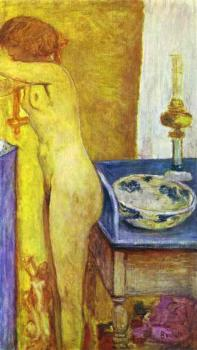 Pierre Bonnard : Nude at the Toilet Table