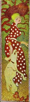 Pierre Bonnard : Woman in a Polka Dot Dress