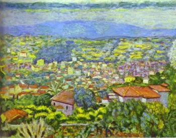 Pierre Bonnard : View of Le Cannet, Roofs