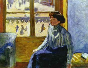 Pierre Bonnard : Young Woman Before the Window