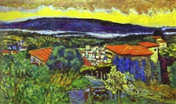 Pierre Bonnard : Red Roofs in Cannet