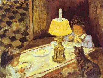 Pierre Bonnard : The Lunch of the Little Ones