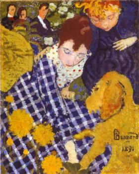 Pierre Bonnard : Woman with Dog