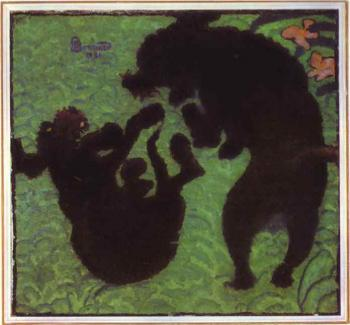 Pierre Bonnard : Two Poodles