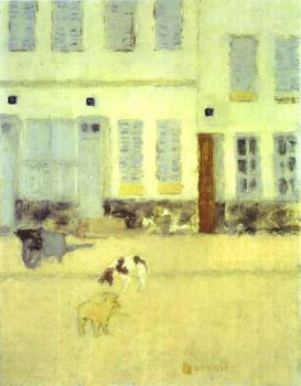 Pierre Bonnard : Street in Eragny-sur-Oise or Dogs in Eragny