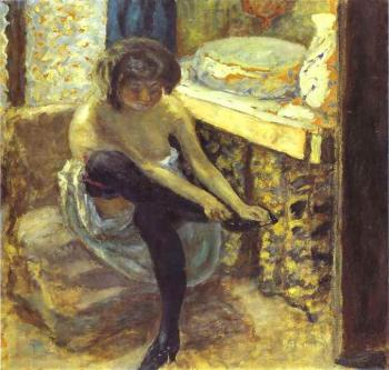 Pierre Bonnard : Woman in Black Stockings