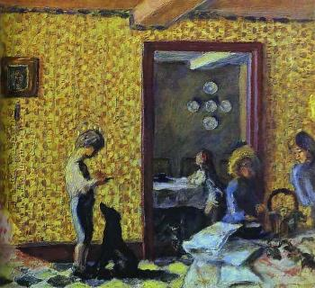 Pierre Bonnard : The Terrasse Children with Black Dog