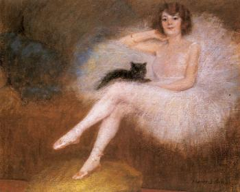 Pierre Carrier-Belleuse : Ballerina With A Black Cat