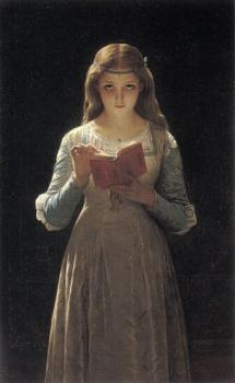 Pierre-Auguste Cot : Young Maiden Reading a Book