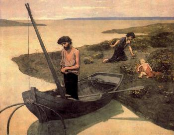 Pierre-Cecile Puvis De Chavannes : The Poor Fisherman