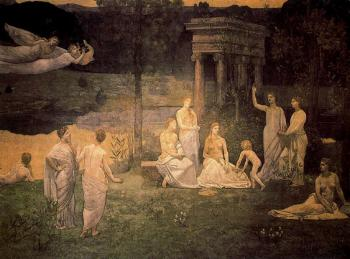 Pierre-Cecile Puvis De Chavannes : The Sacred Wood Cherished by the Arts and the Muses