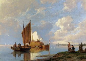 Pieter Christian Dommerson : Off Volendam On The Zuiderzee