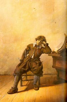 Pieter Codde : Young Scholar In His Study