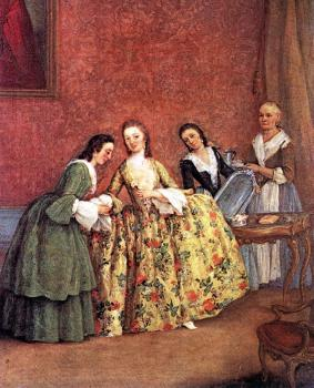 Pietro Longhi : The Venetian Lady's Morning