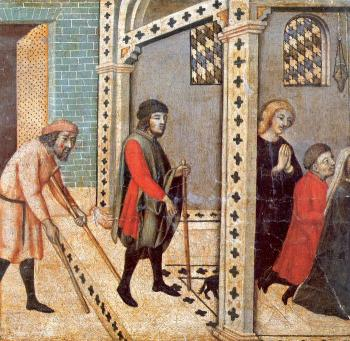 Sano Di Pietro : Scenes from the Legend of Saint Peter the Martyr IV