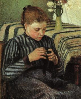 Camille Pissarro : Girl Sewing