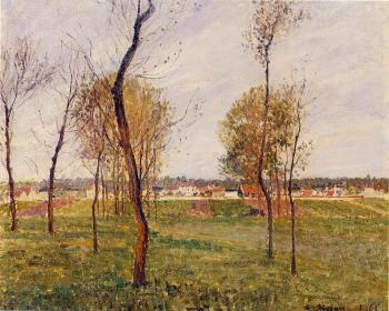 Camille Pissarro : A Meadow in Moret