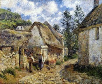 Camille Pissarro : A Street in Auvers